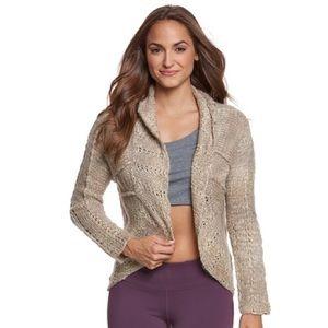 PrAna Chunky Marled Rosewood Sweater Wrap Size M
